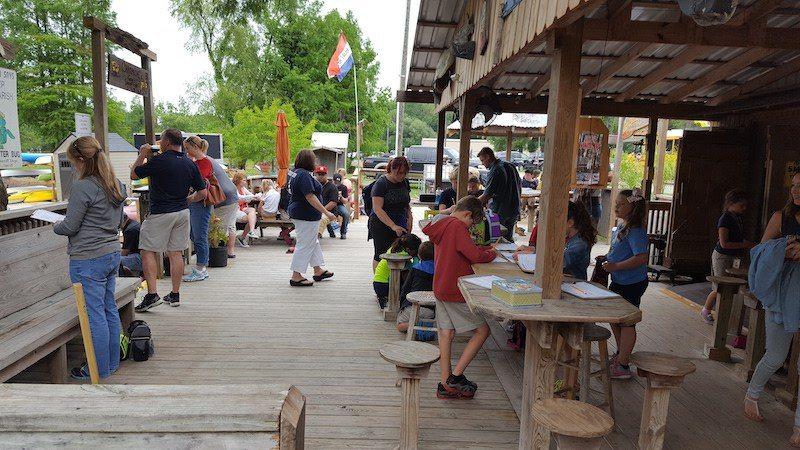 Champagnes Cajun Swamp Tours Tourists Back Dock